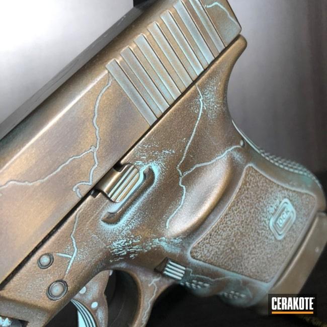 Cerakoted: Custom Mix,Robin's Egg Blue H-175,VORTEX® BRONZE H-293,Copper Patina,Burnt Bronze H-148,Pistol,Glock,Midnight Bronze H-294,Glock 36,VORTEX® BRONZE C-293,Patina,Gold H-122
