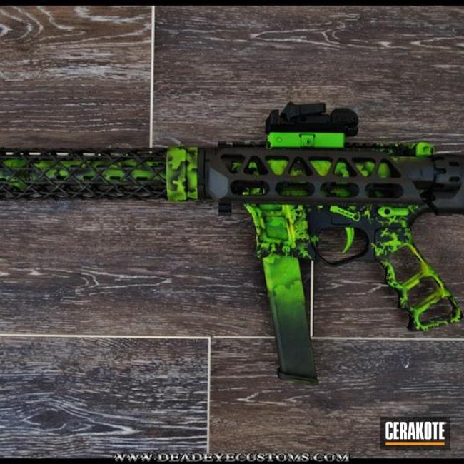 Cerakoted: Custom Mix,Electric Yellow H-166,NRA Blue H-171,BLACKOUT E-100,Custom Design,Graphite Black H-146,Zombie Green H-168,Tactical Rifle