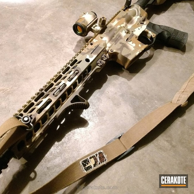 Cerakoted: HAZEL GREEN H-204,Patriot Brown H-226,Camo,Tactical Rifle,BENELLI® SAND H-143,Custom Camo