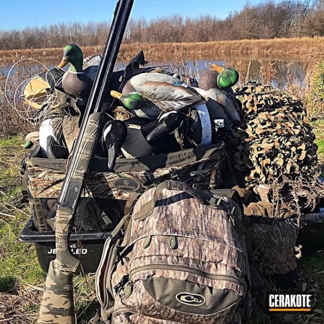 Cerakoted: Shotgun,Bottomland,Graphite Black H-146,MAGPUL® O.D. GREEN H-232,Flat Dark Earth H-265