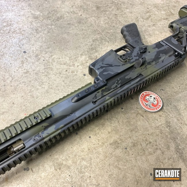 Cerakoted: Sniper Grey H-234,SCAR,MultiCam,Graphite Black H-146,Mil Spec O.D. Green H-240,Tactical Rifle