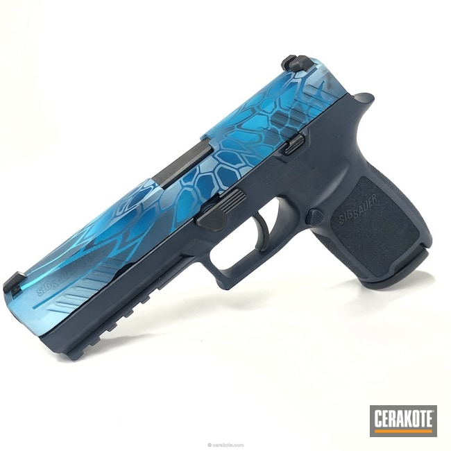 Cerakoted: Sig Sauer P320,Sniper Grey H-234,Sea Blue H-172,Kryptek,Robin's Egg Blue H-175,Snow White H-136,P320,Kryptek Pontus,Sig Sauer,Sky Blue H-169,sigsauer320