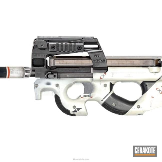 Cerakoted: Video Game Theme,azimov,Snow White H-136,Graphite Black H-146,Counter Strike,Hunter Orange H-128