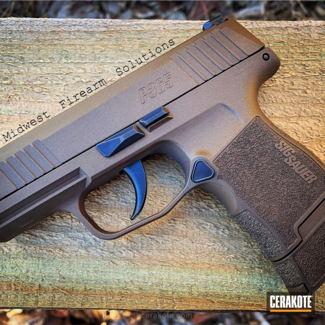 Cerakoted Sig Sauer P365 Handgun In A Custom Mixed Bronze Finish