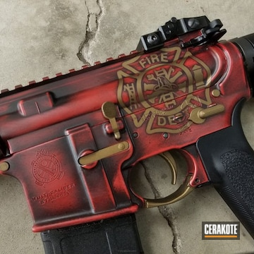 Cerakoted Firefighter Theme Rifle