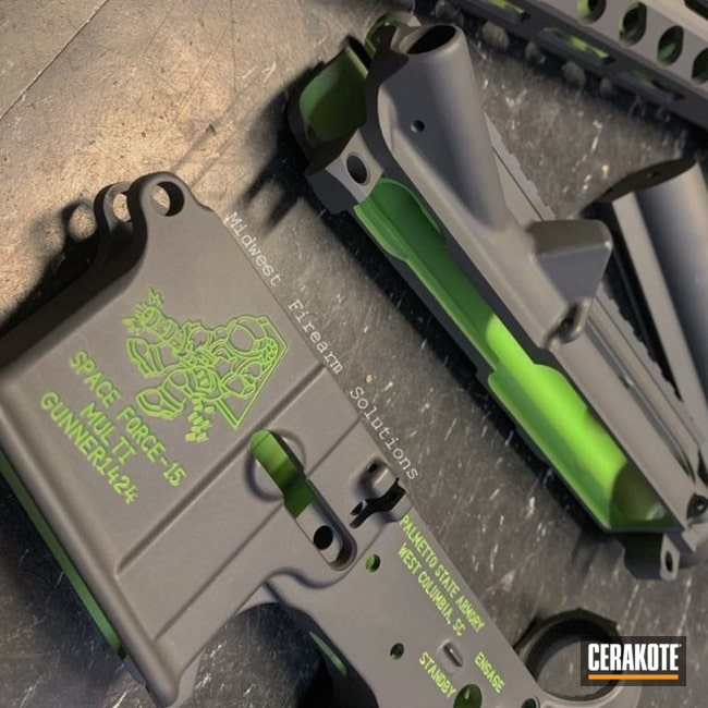 AR15 Builders Kit in Sniper Grey with Zombie Green Accents