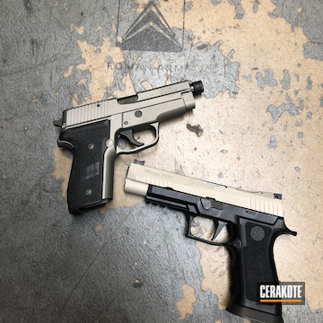 Cerakoted Sig Sauer Handguns With Stainless And Bright Nickel