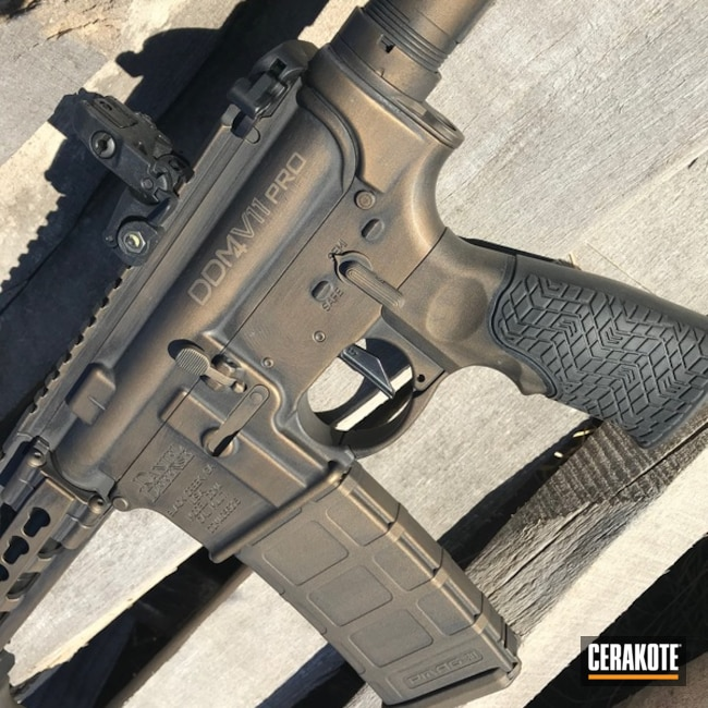 Daniel Defense Rifle in Battleworn Armor Black and Burnt Bronze