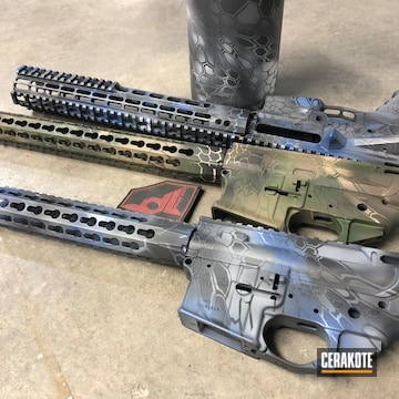 Cerakoted Uppers / Lowers / Handguards In Custom Kryptek Finishes