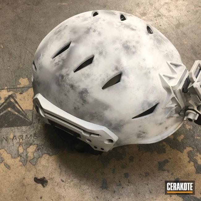 Cerakoted: Hidden White H-242,Bump Helmet,Helmet,Armor Black H-190,More Than Guns,Team Wendy,Snow Camo,Snow