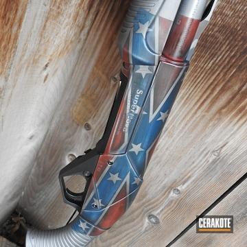 Cerakoted Confederate Flag Coated Benelli Shotgun