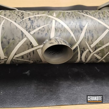 Cerakoted Camo Finished Boat Exhaust