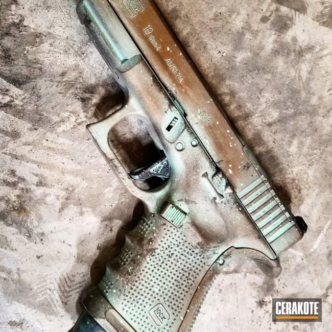 Battleworn Glock 19 in a Custom Copper Patina Finish