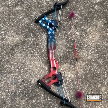 Cerakoted American Flag Finished Bow
