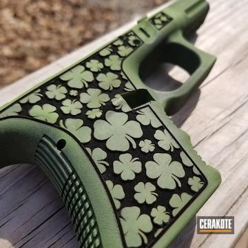 Cerakoted Luck Of The Irish Themed Glock 30 Handgun
