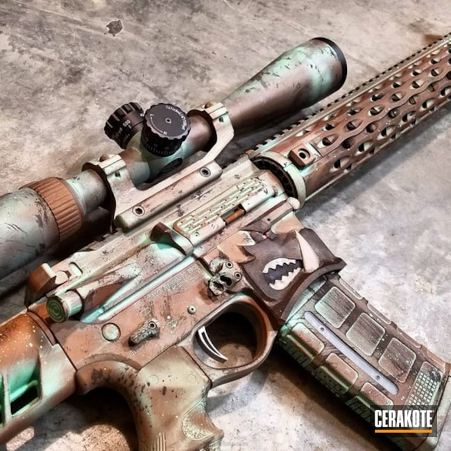 Warthog AR-15 in a Copper Patina Finish