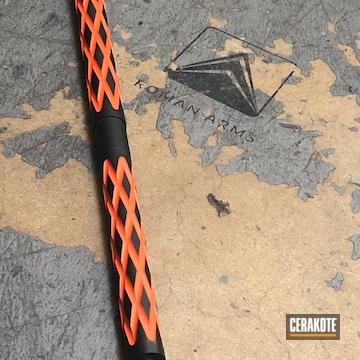 Cerakoted H-146 Graphite Black And H-128 Hunter Orange