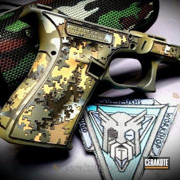 Cerakoted Laser Engraved And Cerakoted Glock Frame