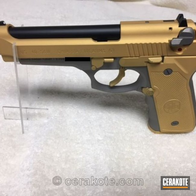 Chiappa Handgun in Graphite Black / Gold / Titanium