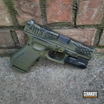 Cerakoted Battleworn Glock 19 Handgun