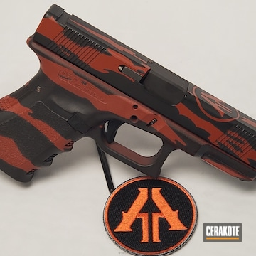 Cerakoted H-221 Crimson And H-146 Graphite Black