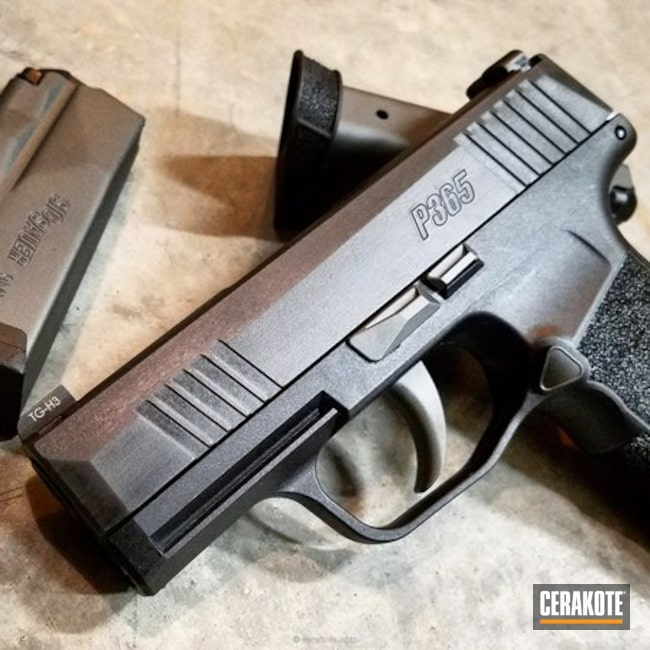Graphite Black and Sig Dark Grey on this Sig P365