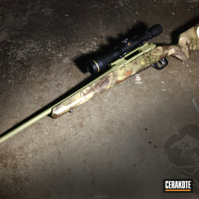 Savage Arms Bolt Action Rifle in a Custom Kryptek Finish
