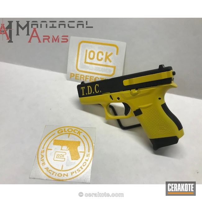 "Thumbnail image for project ""Glock 43 in Graphite Black and Corvette Yellow"""