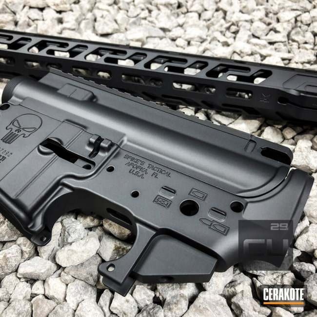 Spike's Tactical Upper / Lower / Handguard in H-234 Sniper Grey
