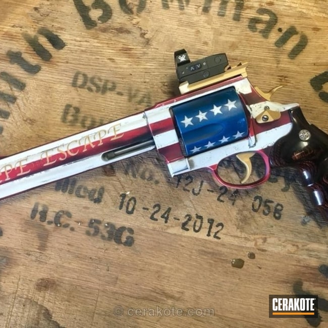 American Flag Themed S&W Revolver