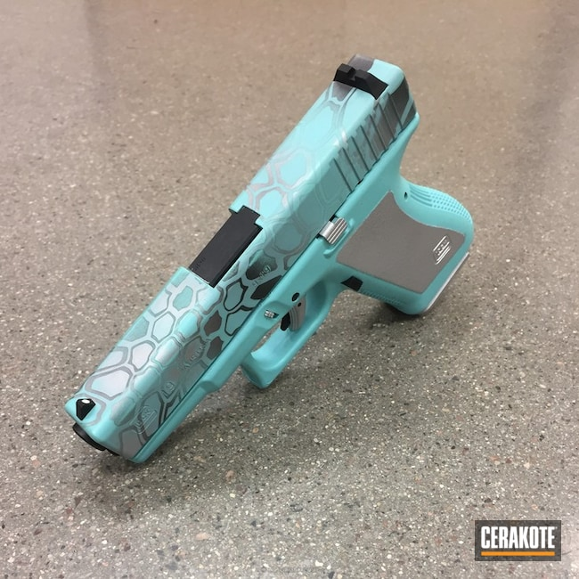 Glock 19 in a Tiffany & Co Kryptek Finish