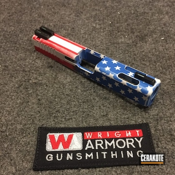 Cerakoted American Flag Themed Glock 19 Slide