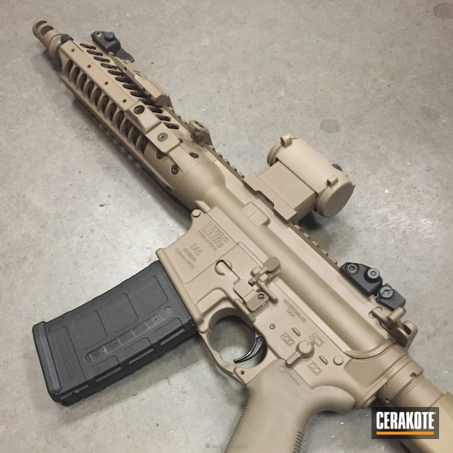 LWRC Rifle done in H-267 MagPul Flat Dark Earth