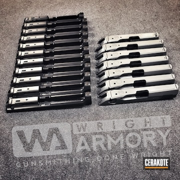 Cerakoted Beretta Slides In Graphite Black And Sniper Grey