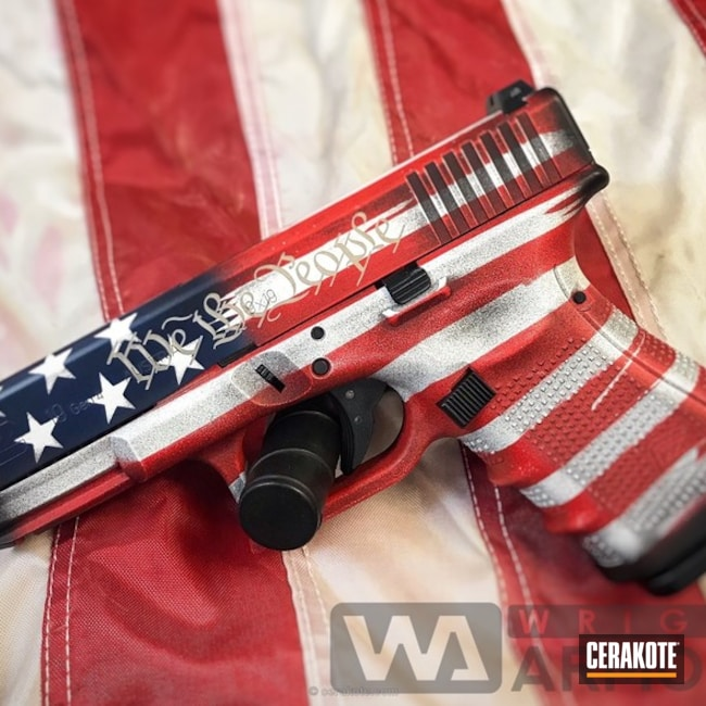 Glock 19 in a Patriotic Themed Finish
