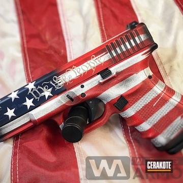 Cerakoted Glock 19 In A Patriotic Themed Finish
