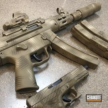 Cerakoted Mp5 And Matching Glock 17 In A Cerakote Net Camo Finish