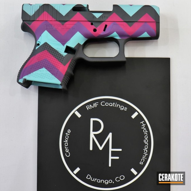Glock Handgun in a Custom Zig Zag Pattern