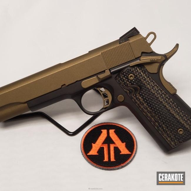 Cerakoted: .45 ACP,Two Tone,Rock Island Armory,Burnt Bronze H-148,Armor Black H-190,Pistol,1911,Semi-Auto