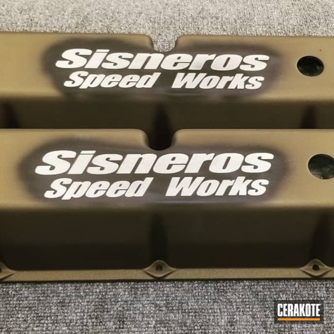 Custom Coated Automotive Valve Covers and Air Cleaner Cover