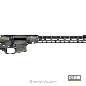 Cerakoted Aero Precision Upper / Lower / Handguard In A Custom Multicam