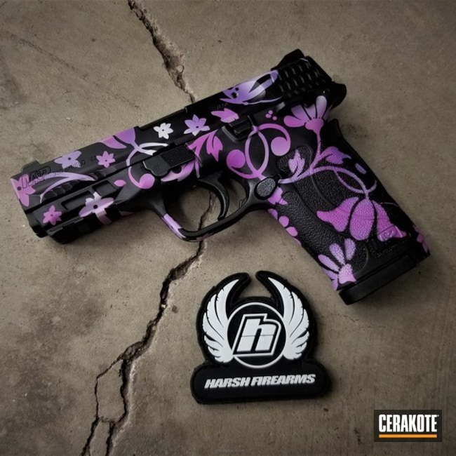 Custom Floral Design on this S&W Handgun