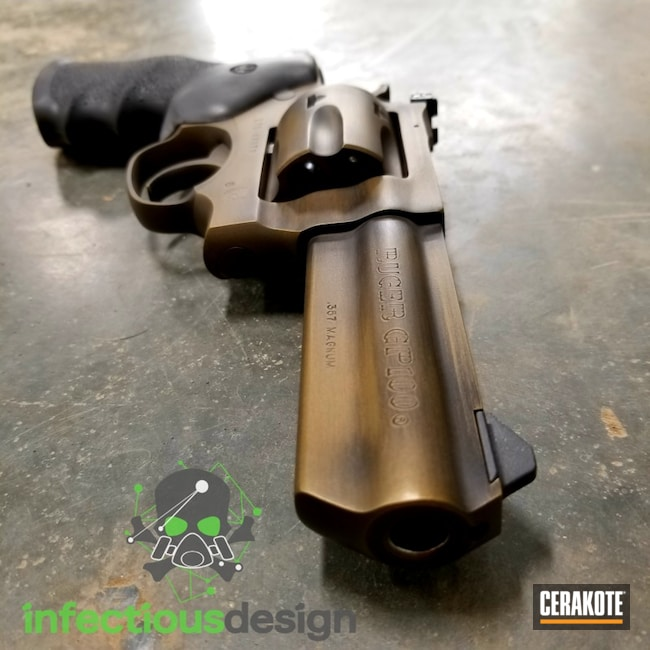 Distressed Bronze and Black Ruger GP100 Revolver