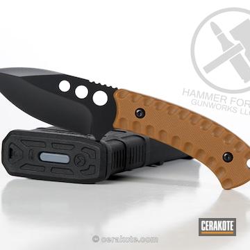 Cerakoted Fixed Blade Knife With A Cerakote Blackout Finish