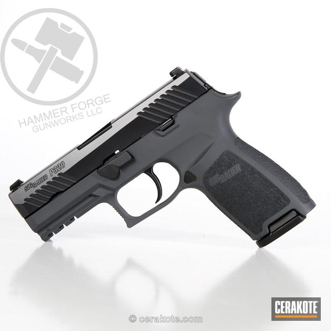 Cerakoted: 9mm,Sig Sauer P320,Sig P320,SPRINGFIELD® GREY H-304,BLACKOUT E-100,Two Tone,P320,Pistol,Sig Sauer,Handguns