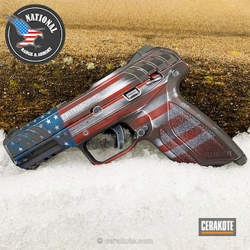 Cerakoted American / Confederate Flag Finish On This Ruger Security 9