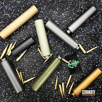 Cerakoted Suppressors Coated In A Variety Of Colors
