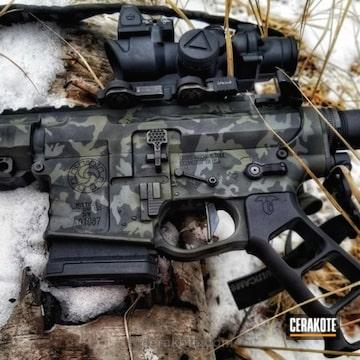 Cerakoted H-210 Sig Dark Grey And H-229 Sniper Green
