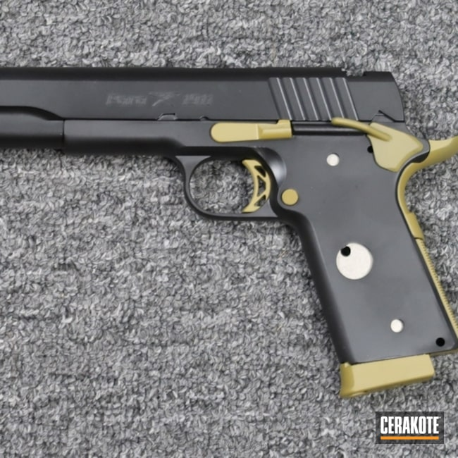 Big version of the 1st project picture. Graphite Black H-146Q, Para-Ordnance, 1911, Pistol, RAL 8000 H-8000Q