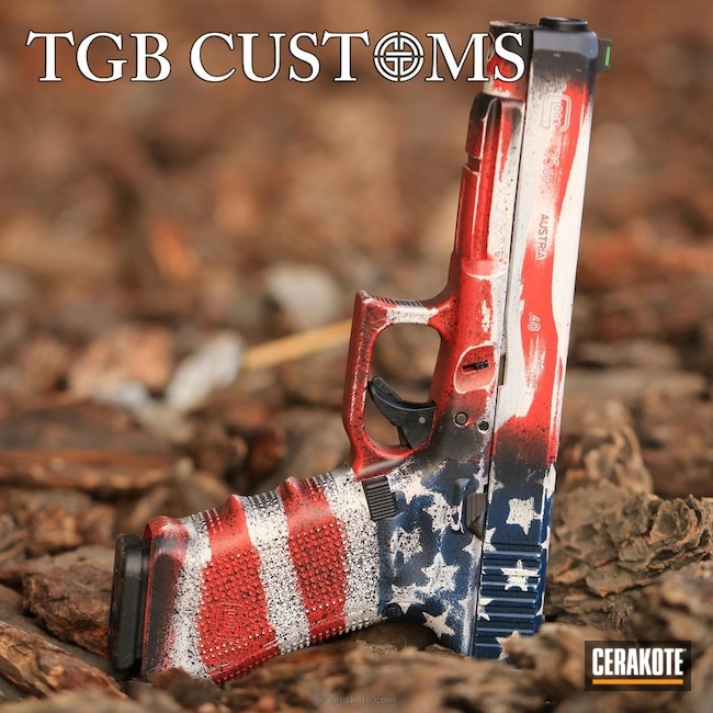 "Thumbnail image for project ""Glock 35 Battleworn American Flag Finish"""